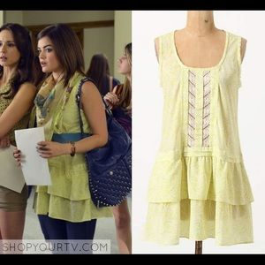 Anthropologie-Eloise Lace Front Tunic Tank